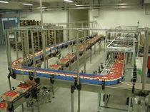 顶板链输送机 / 链条式 / 用于食品行业 / 罐头