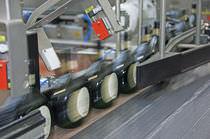 顶推轮分拣机 / 自动 / 瓶子 / 用于饮料产业