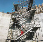 直线型楼梯 / 金属 / 应急  Hünnebeck GmbH