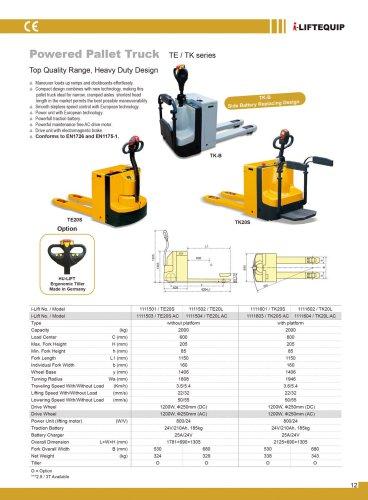 i-Lift/Hu-Lift Powered Pallet Truck TE/TK
