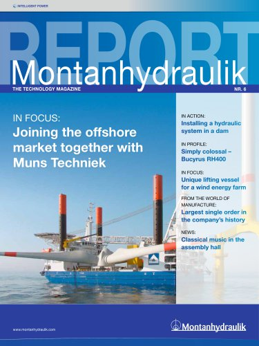 """Customer magazine """"Montanhydraulik Report"""" 2011"""