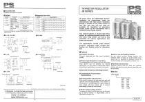 THYRISTOR REGULATORS Single-phase JB
