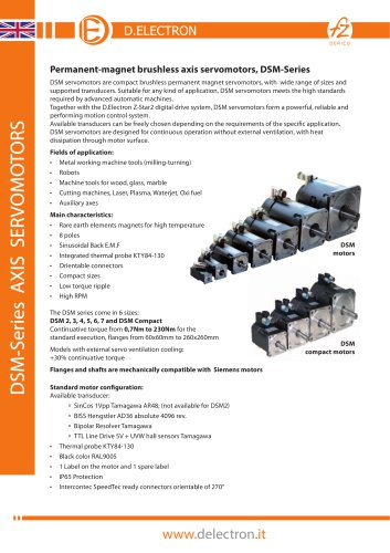 DSM-Series AXIS SERVOMOTORS
