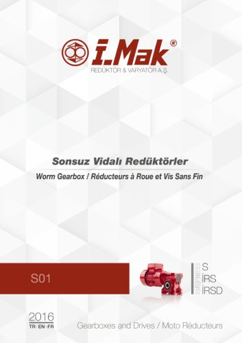 Worm gear units - S Series