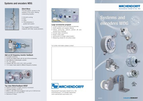 Systems and encoders WDG