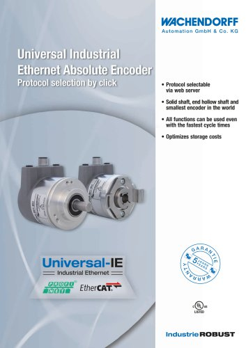 Universal Industrial Ethernet Absolute Encoder