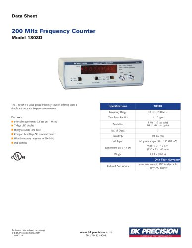 200 MHz Frequency Counter