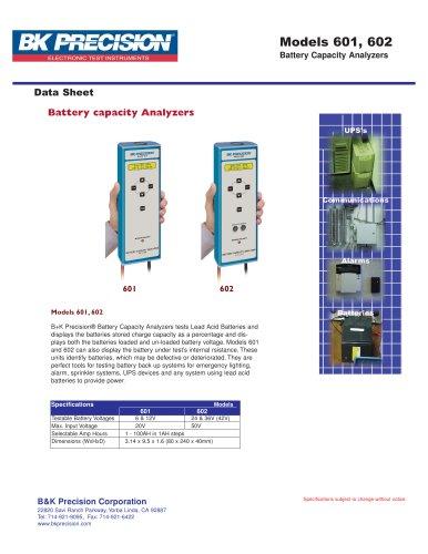 6 & 12V SLA Battery Capacity Analyzer