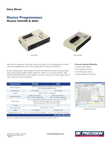 Device Programmer with USB PC Interface