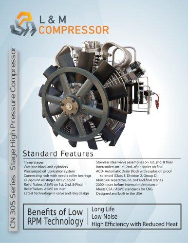 CN 305 Series Stage High Pressure Compressor