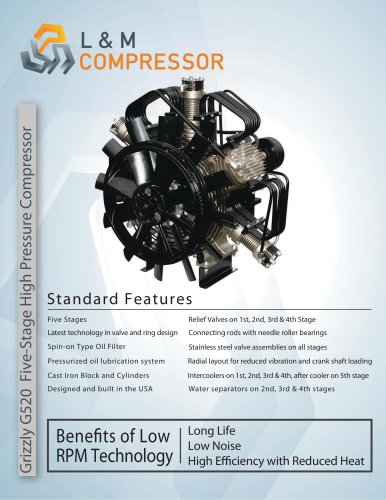 Grizzly G520 Five-Stage High Pressure Compressor