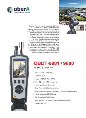 OBDT-9881 / 9880 PARTICLE COUNTER