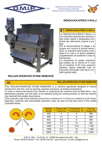 ROLLER-OPERATED STONE REMOVER