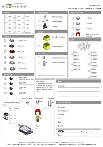 Rotary Limit Switch FCN Request Form B-COMMAND