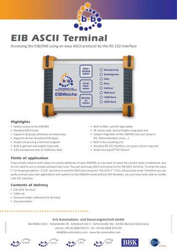 EIB ASCII Terminal serial (compact case)
