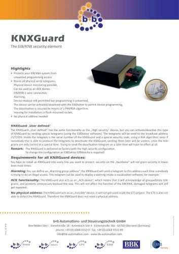 KNXGuard user defined