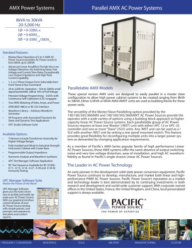 AMX Parallel AC Power Systems Product Brochure