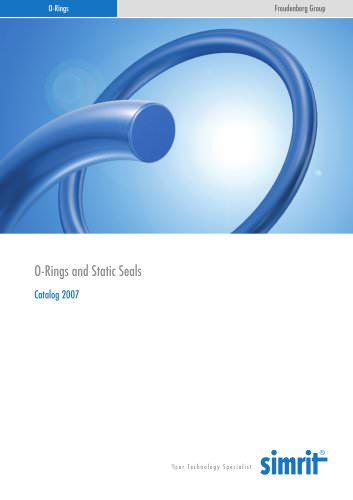Catalogue 2007 O-Rings and Static Seals