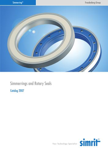 Catalogue 2007 Simmerrings and Rotatory Seals