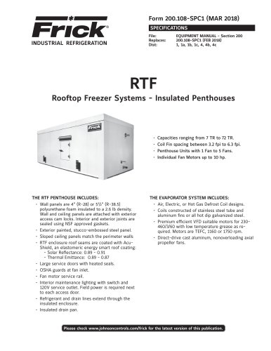Rooftop Freezer Systems - Insulated Penthouses