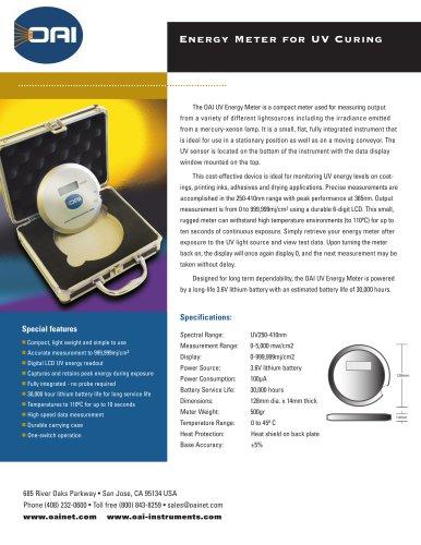 Model 50 Energy Meter for UV Curing