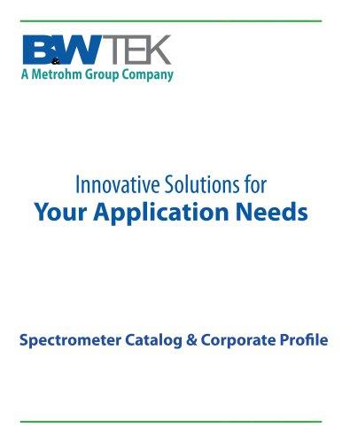 B&W Tek Spectrometer Modules Catalog