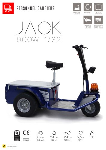 JACK Man on board electric personnel carrier