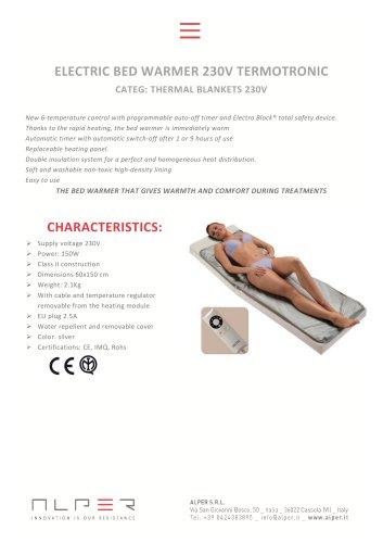ELECTRIC BED WARMER 230V TERMOTRONIC - CATEG: THERMAL BLANKETS 230V