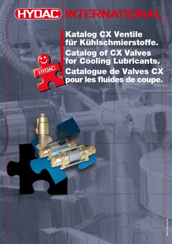 Catalog CX Valves for Cooling Lubricants