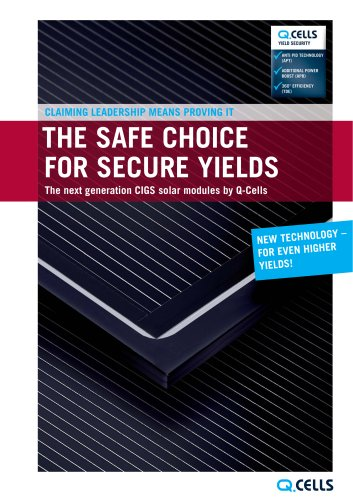 Product catalogue CIGS thin-film solar module