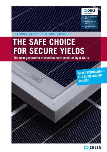 Product catalogue crystalline solar modules