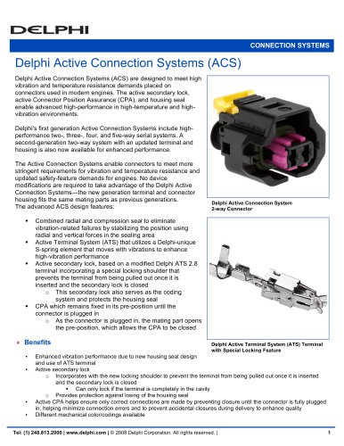Delphi Active Connection Systems