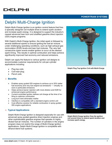 Delphi Multi-Charge Ignition