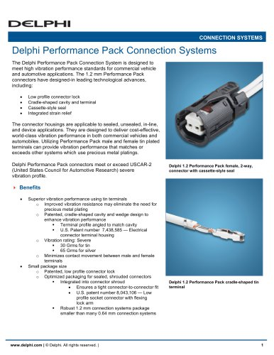 Delphi Performance Pack Connection Systems
