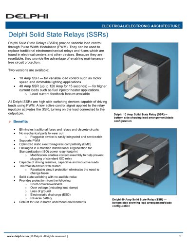 Delphi Solid State Relays (SSRs)