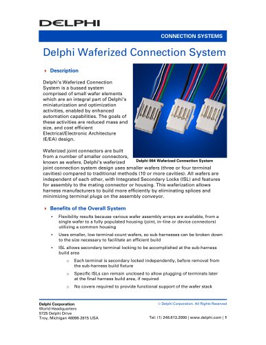 Delphi Waferized Connection System