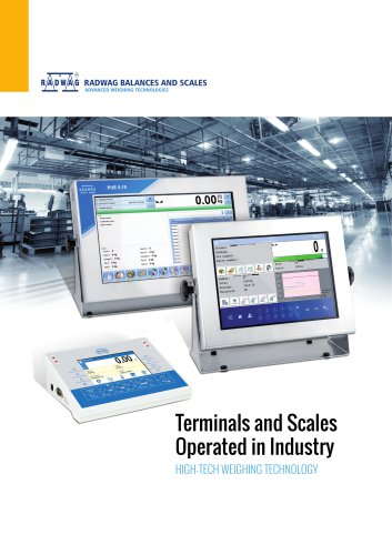 Terminals and industrial scales