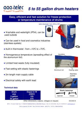 5 gallon drum heater