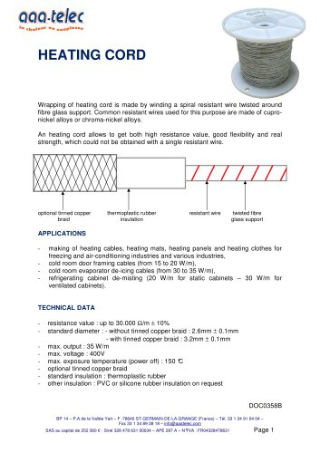 Heating cable CI
