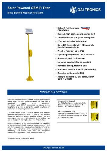 Titan GSM-R Solar Powered