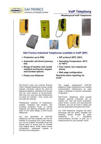 Voice over Internet Protocol Telephones