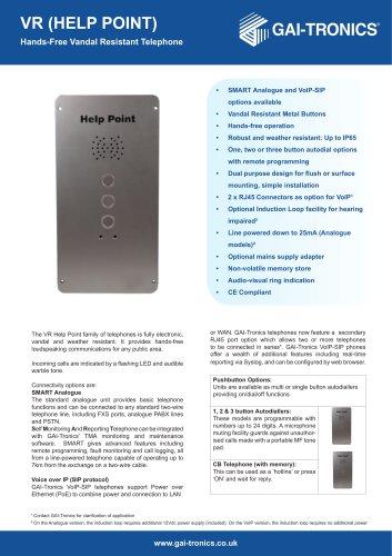 VR - Help Point - Hands-Free Vandal Resistant Telephone