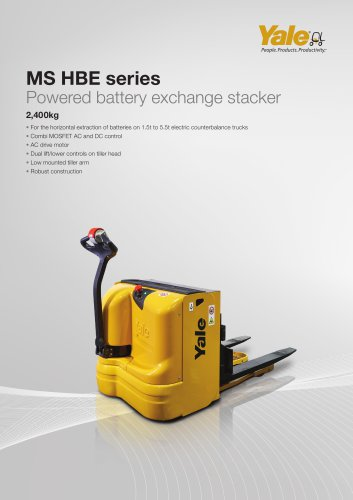 MS24HBE Powered battery exchange stacker