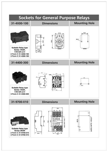 Sockets for General Purpose Relays