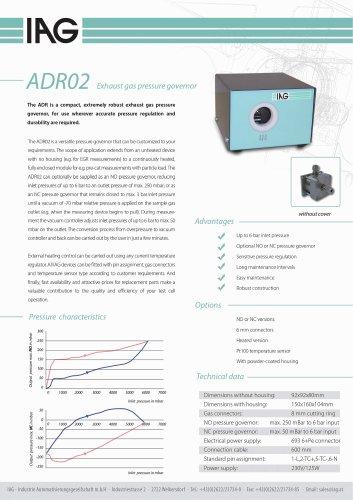 Data sheet pressure controllers_ADR