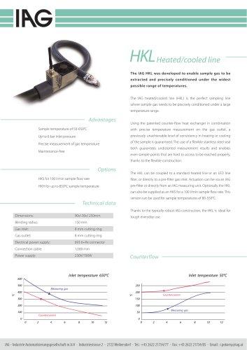 HKL - Heated/cooled line