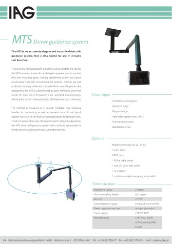 MTS-Driver aid system
