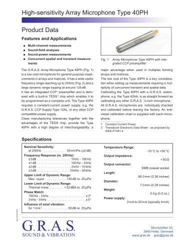 Array Microphone Type 40PH
