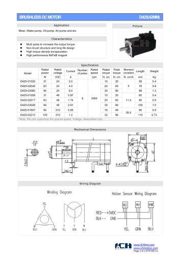 BRUSHLESS DC MOTOR D425(42MM)