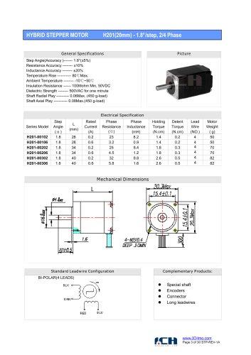 H201(1.8degree)20mm-2/4 phase